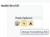 Office 2010 Word Paste Preview - Merge Formatting