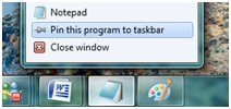 Windows 7 Jumplist